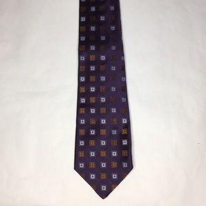 Kiton Men purple 100 %silk ties Geometric elegant